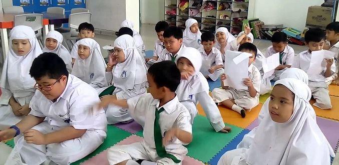 Ilustrasi murid Sekolah Islam Al Azhar