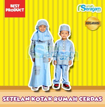 Model Seragam TK Muslim Kotak Kotak - Rumah Seragam