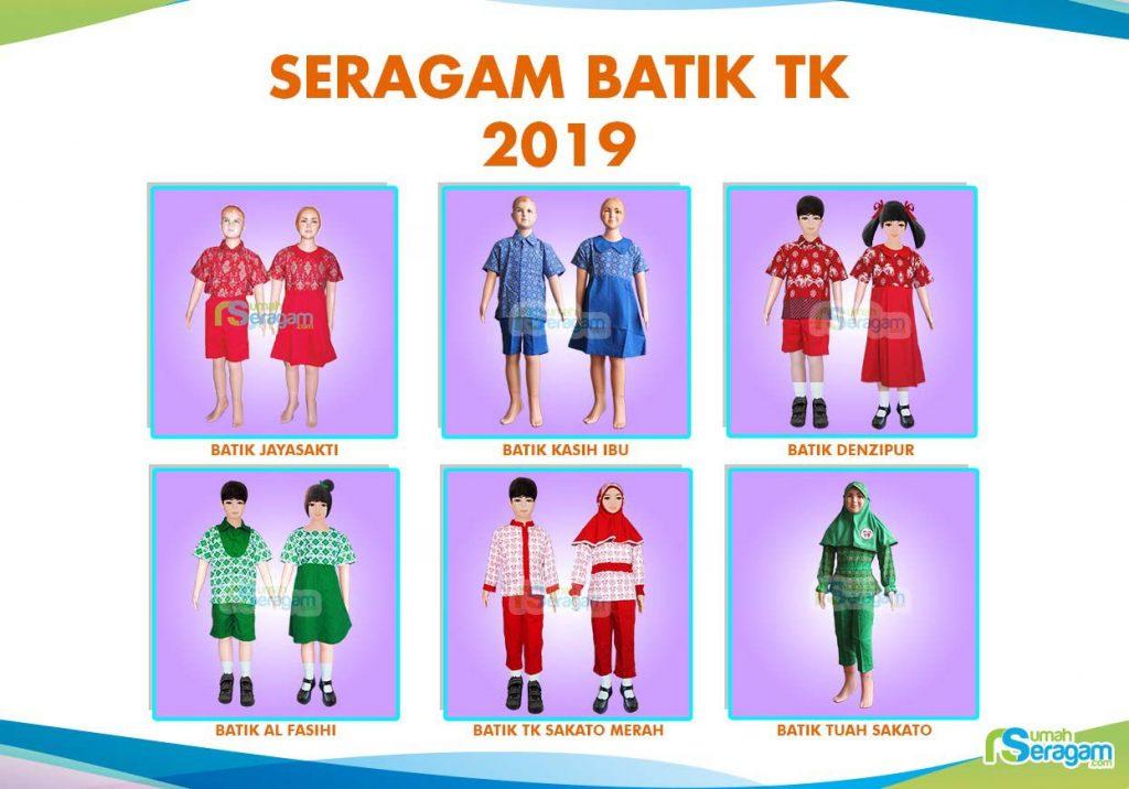 Model Baju Seragam TK Batik
