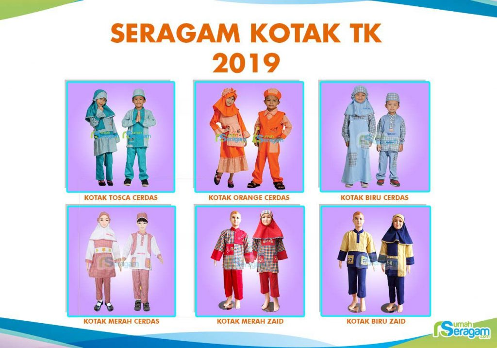 Model Baju Seragam TK Kotak Kotak