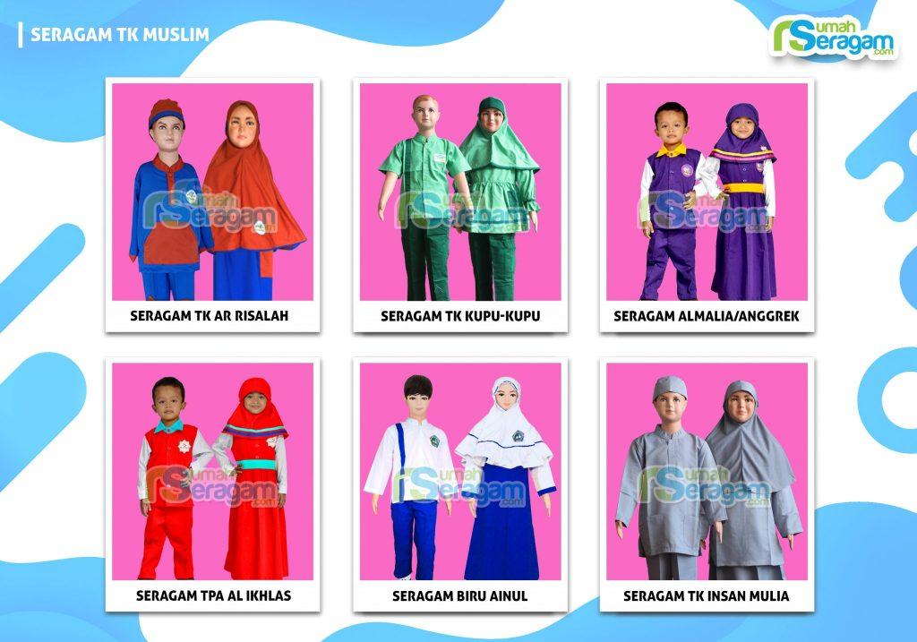 Gambar Seragam Anak TK Muslim