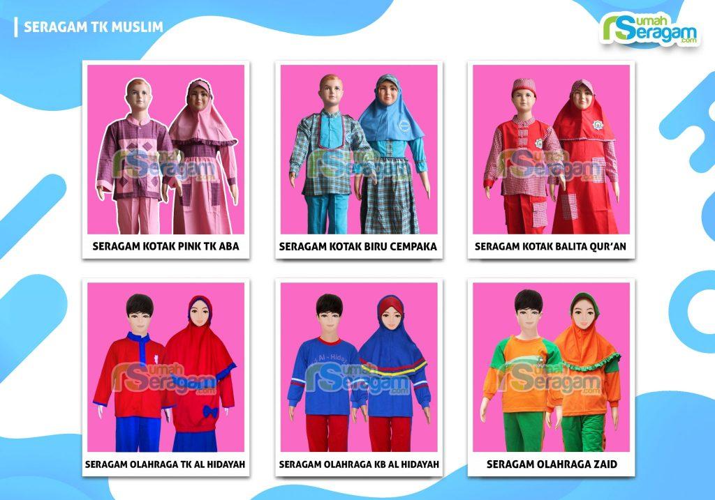 Baju Seragam Muslim Anak TK