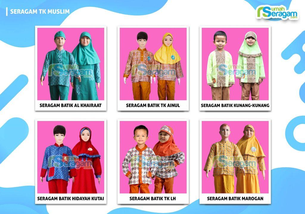 Model Seragam Batik Anak TK