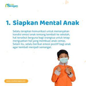 Siapkan Mental Anak Hadapi New Normal