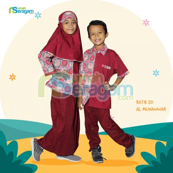 Seragam Batik anak SD Al Munawwar