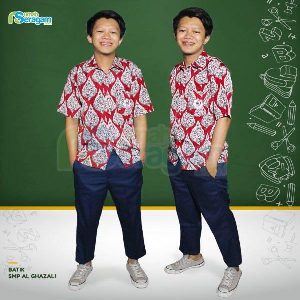 seragam batik smp al ghazali