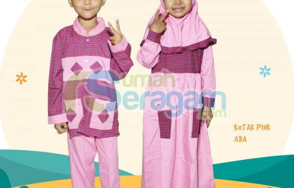 Seragam TK Kotak Muslim Pink TK ABA