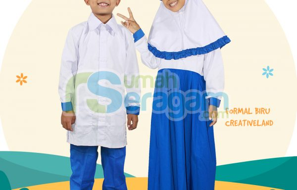 Seragam Formal SD Creativeland Biru Putih