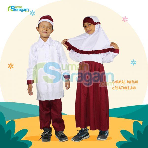 seragam formal merah creativeland