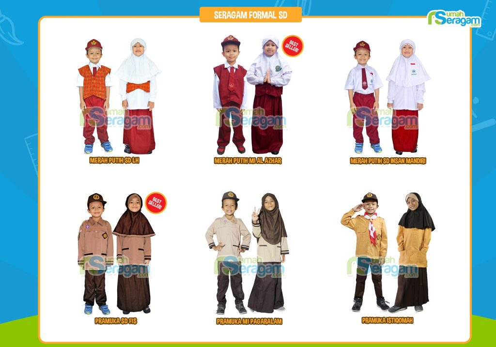 Model Seragam Anak SD Muslim